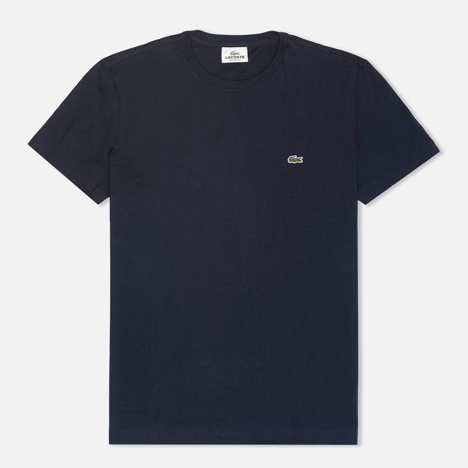 Мужская футболка Lacoste Single-Color Jersey Navy