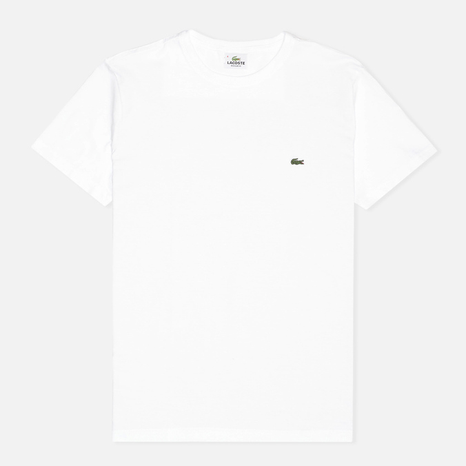 Мужская футболка Lacoste Single-Color Jersey White