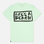 Мужская футболка Life's A Beach Lab Logo Green фото- 1