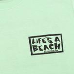 Мужская футболка Life's A Beach Lab Logo Green фото- 3