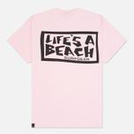 Мужская футболка Life's A Beach Lab Logo Salmon фото- 1