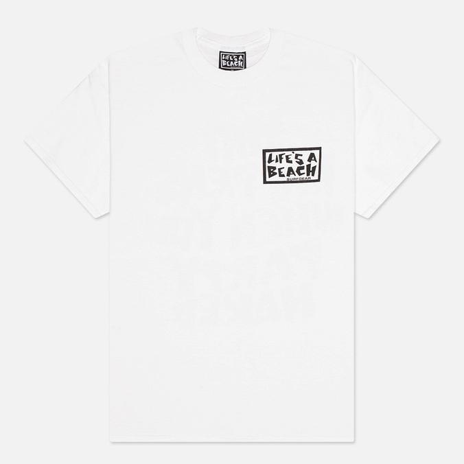 Мужская футболка Life's A Beach Shit Happens White