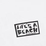 Мужская футболка Life's A Beach Shit Happens White фото- 3