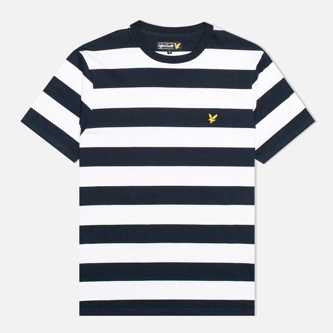 Мужская футболка Lyle & Scott Engineered Stripe New Navy