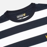 Мужская футболка Lyle & Scott Engineered Stripe New Navy фото- 1