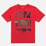 MA.Strum Crew T-shirt w/Kit Bag Print Red Alert photo- 0