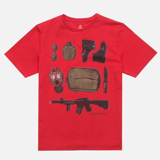MA.Strum Crew T-shirt w/Kit Bag Print Red Alert