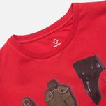 MA.Strum Crew T-shirt w/Kit Bag Print Red Alert photo- 1