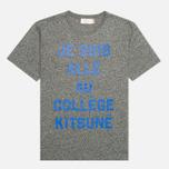 Мужская футболка Maison Kitsune Crew Neck Print Je Suis Alle Dark Grey Melange фото- 0
