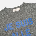 Мужская футболка Maison Kitsune Crew Neck Print Je Suis Alle Dark Grey Melange фото- 1