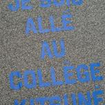 Мужская футболка Maison Kitsune Crew Neck Print Je Suis Alle Dark Grey Melange фото- 3