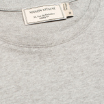 Мужская футболка Maison Kitsune Crew Neck Tricoclor Fox Patch Grey Melange фото- 2
