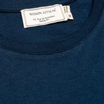 Мужская футболка Maison Kitsune Crew Neck Tricoclor Fox Patch Navy фото- 2
