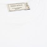 Maison Kitsune Crew Neck Tricoclor Fox Patch Men's T-shirt White photo- 2