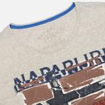 Мужская футболка Napapijri Sallas Light Grey фото- 1