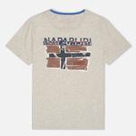Мужская футболка Napapijri Sallas Light Grey фото- 0