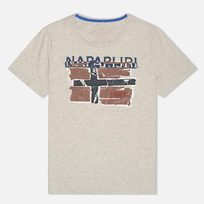 Мужская футболка Napapijri Sallas Light Grey