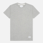 Футболка мужская Norse Projects Niels Basic Light Grey Melange фото- 0