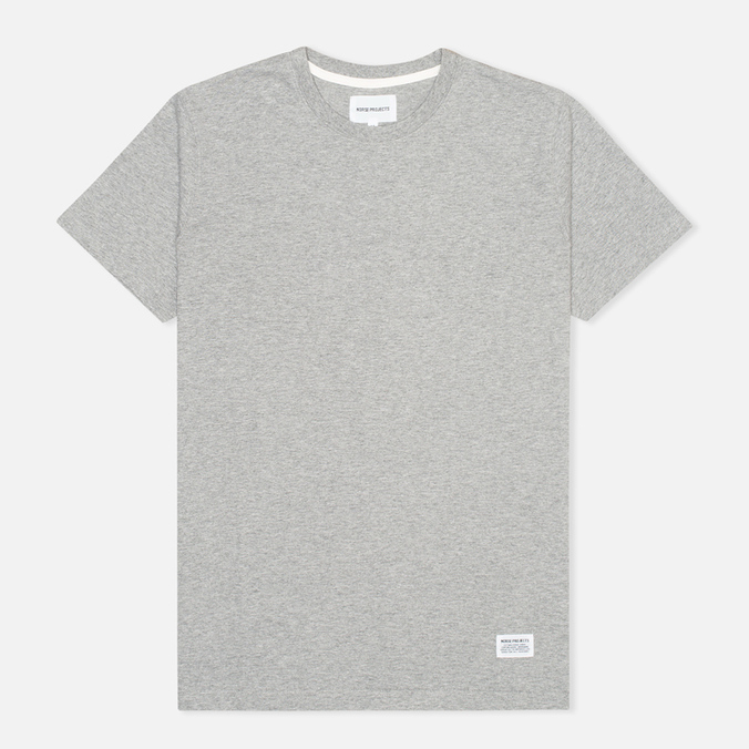 Norse Projects Niels Basic Men's T-shirt Light Grey Melange