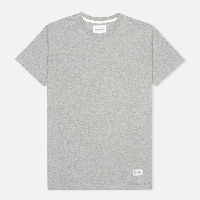 Футболка мужская Norse Projects Niels Basic Light Grey Melange
