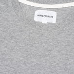 Norse Projects Niels Basic Men's T-shirt Light Grey Melange photo- 2