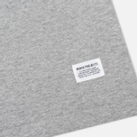 Футболка мужская Norse Projects Niels Basic Light Grey Melange фото- 3