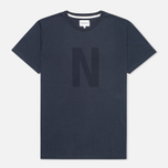 Мужская футболка Norse Projects Niels Basic Logo Navy фото- 0