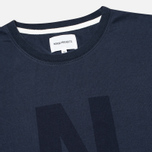 Мужская футболка Norse Projects Niels Basic Logo Navy фото- 1