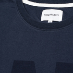 Мужская футболка Norse Projects Niels Basic Logo Navy фото- 2