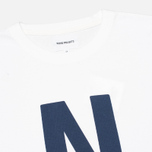 Norse Projects Niels Basic Logo Men's T-shirt White photo- 1