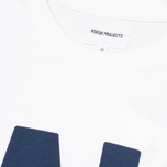 Norse Projects Niels Basic Logo Men's T-shirt White photo- 2
