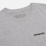 Мужская футболка Patagonia P-6 Logo Classic Gravel Heather фото- 1