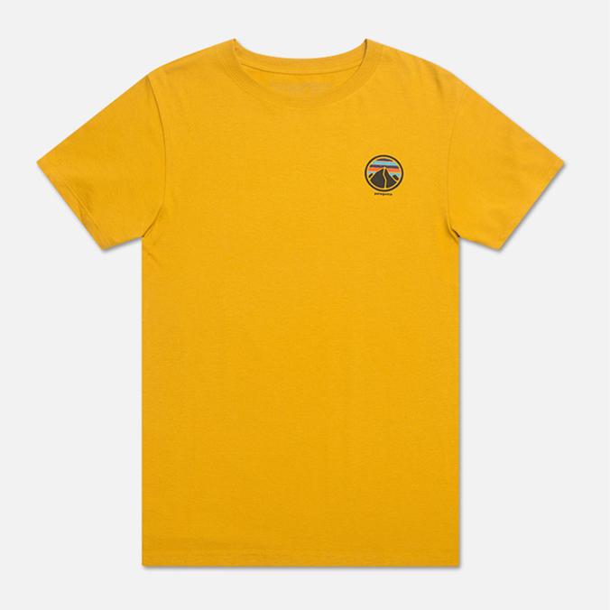 Мужская футболка Patagonia Rivet Logo Golden Amber