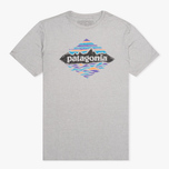 Patagonia Wood Stamped P-6 Men's T-shirt Feather Grey photo- 0