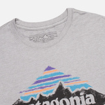 Мужская футболка Patagonia Wood Stamped P-6 Feather Grey фото- 1