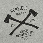 Мужская футболка Penfield Axes Grey Melange фото- 2
