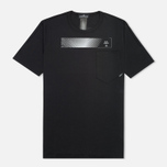 Мужская футболка Stone Island Shadow Project Long Printed Interlock Mako Co Black фото- 0