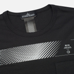 Мужская футболка Stone Island Shadow Project Long Printed Interlock Mako Co Black фото- 1