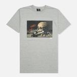 Мужская футболка Stussy Skull Painting Grey Heather фото- 0
