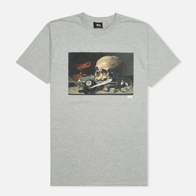 Мужская футболка Stussy Skull Painting Grey Heather