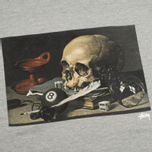 Мужская футболка Stussy Skull Painting Grey Heather фото- 2