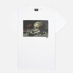 Stussy Skull Painting Men's T-shirt White photo- 0