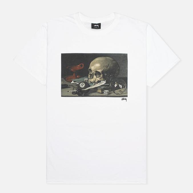 Stussy Skull Painting Men's T-shirt White