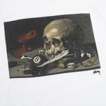 Stussy Skull Painting Men's T-shirt White photo- 2