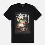 Мужская футболка Stussy World Tour Floral Black фото- 0