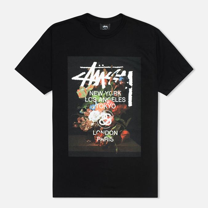Мужская футболка Stussy World Tour Floral Black