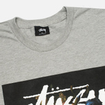 Мужская футболка Stussy World Tour Floral Grey Heather фото- 1