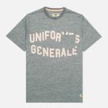 Мужская футболка Uniformes Generale Belushi Discharge Pocket Indigo Melange фото- 0