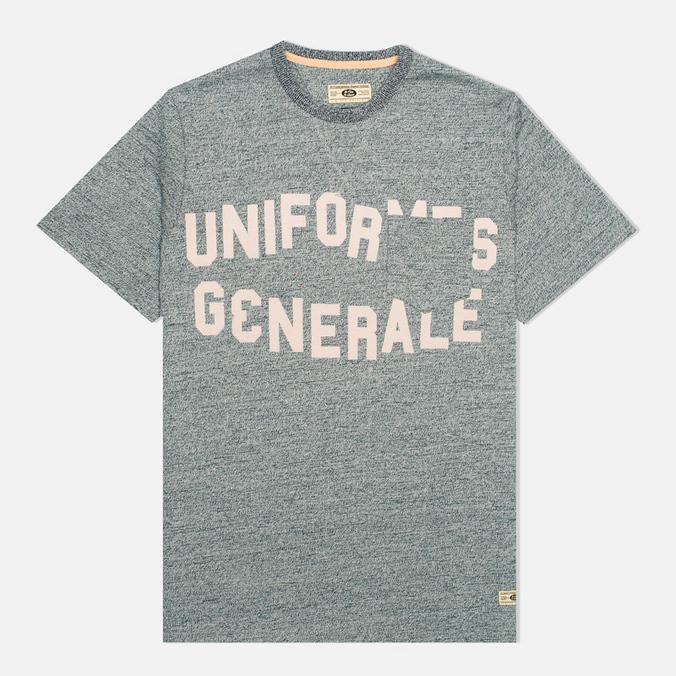 Мужская футболка Uniformes Generale Belushi Discharge Pocket Indigo Melange