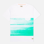 Мужская футболка Uniformes Generale Vintage Surf Brush Stripe White/Mint фото- 0
